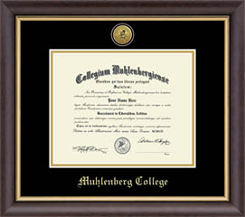 Image For Engraved Hampshire Diploma Frame