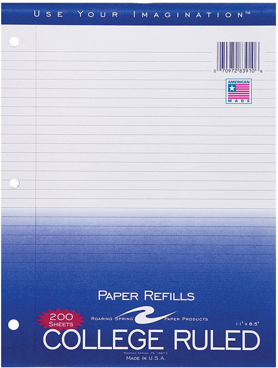 Image For Filler Paper