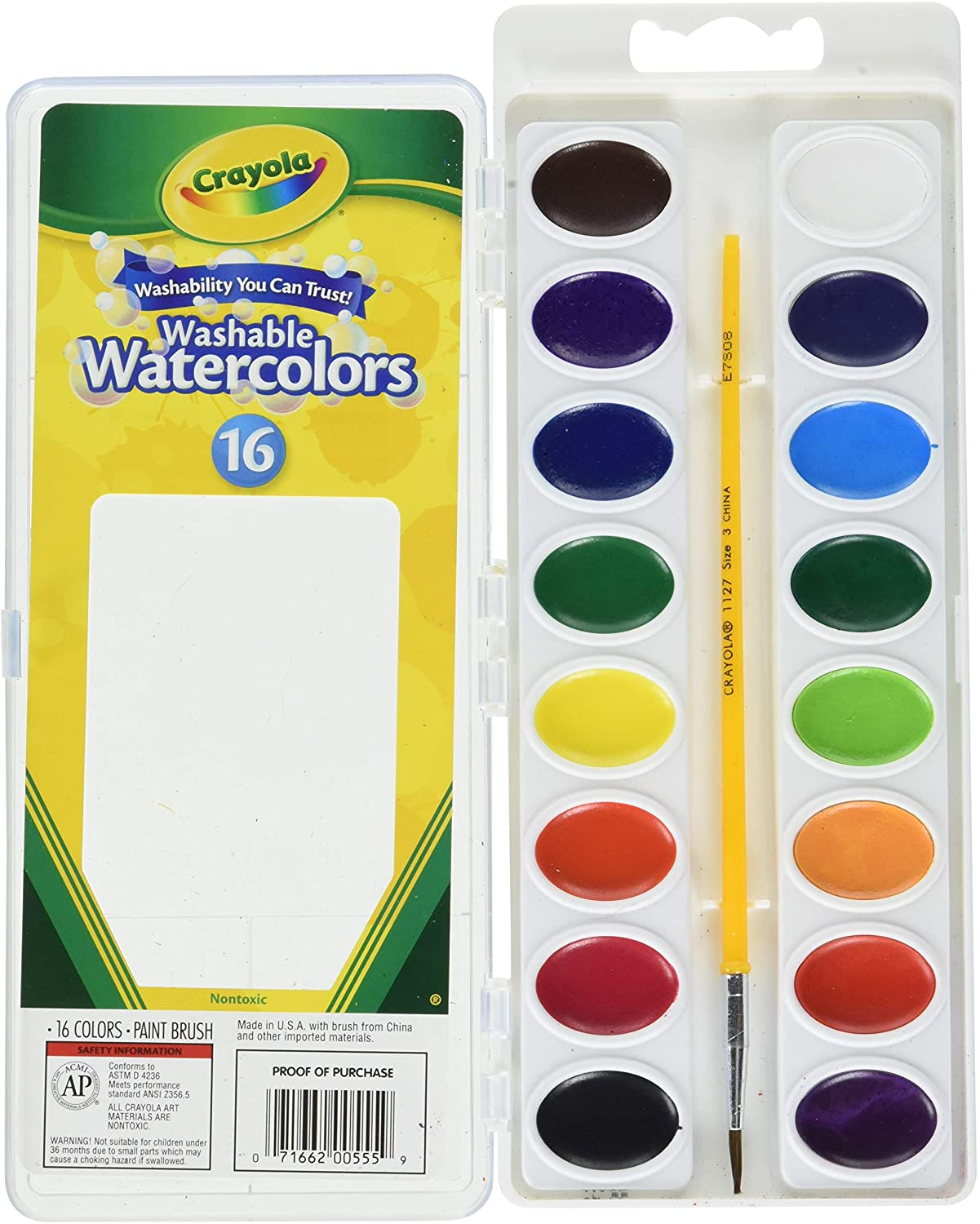 Image For Crayola Watercolor Set