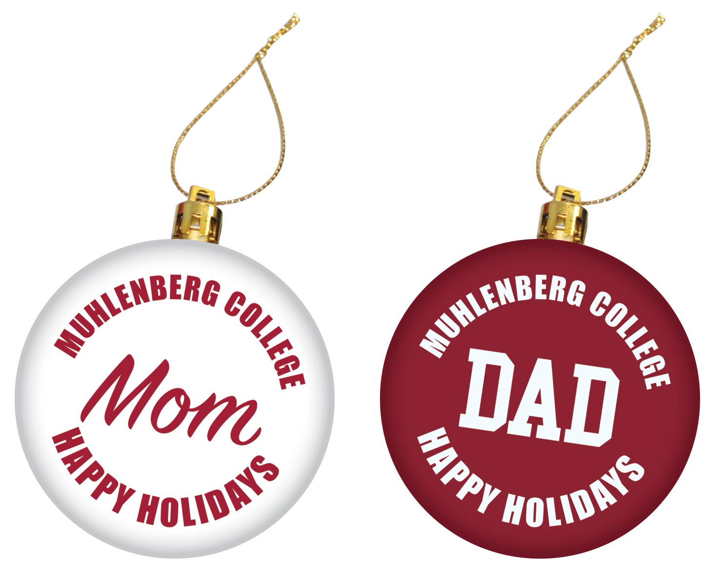 Image For Mom & Dad Ornament Set
