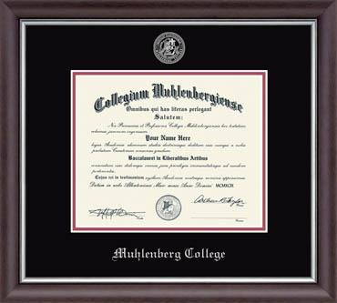 Image For Silver Embossed Diploma Frame